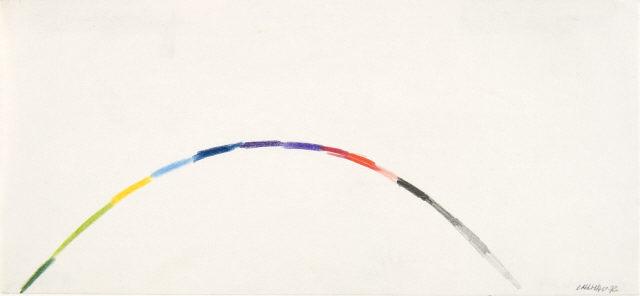 """Fernando Calhau, """"Sem título #850"""", 1972. Lápis de cor sobre papel. Coleção Moderna"""