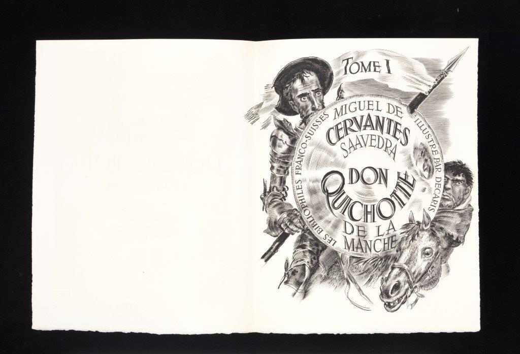 Miguel de Cervantes, « Don Quichotte De La Manche ». Ilustrações de Albert Decaris. Paris : Les Bibliophiles Franco-Suisses, 1951. Coleção do Fundador