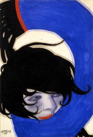Jorge Barradas, Sem título, 1921. Tinta da China e guache sobre papel. Coleção Moderna