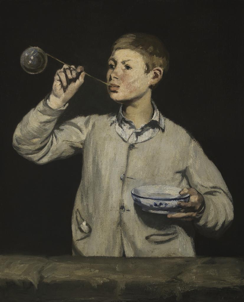 """Édouard Manet, """"As Bolas de Sabão"""", 1867. Óleo sobre tela. Coleção do Fundador"""