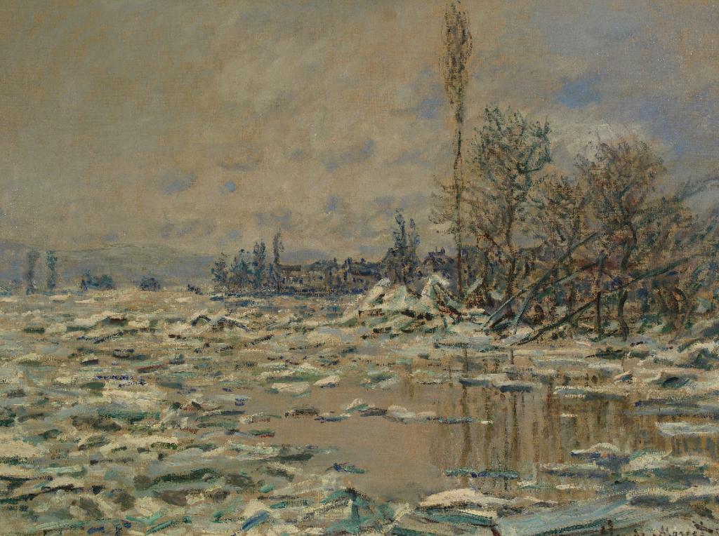 """Claude Monet, """"O Degelo"""", 1880. Óleo sobre tela. Coleção do Fundador"""