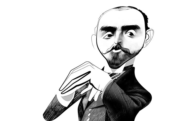 Caricatura de Calouste Gulbenkian