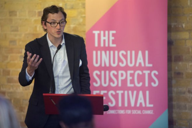Speaker at The Unusual Suspects Festival