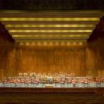 GA - Palco elevador 7 subido para Orquestra