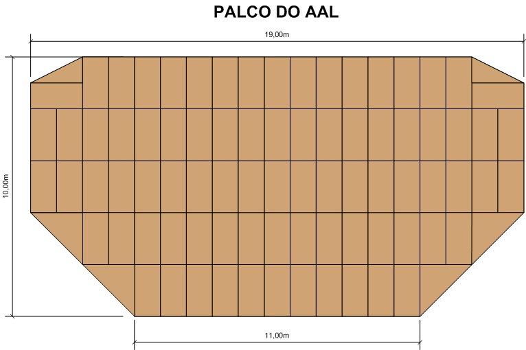 Anfiteatro ao ar livre (estrados de base)