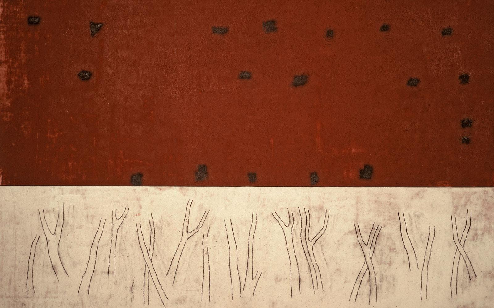 Julião Sarmento, pormenor da obra «The Frozen Leopard», 1991. Centro de Arte Moderna